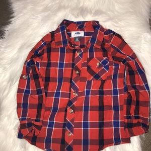 Old Navy Toddler Boy Plaid Button Down Top